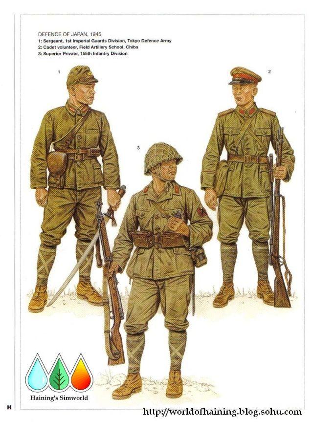 二战日本军服(1942——1945) - 景军 - 正气与浑雄——为您展示男人的世界