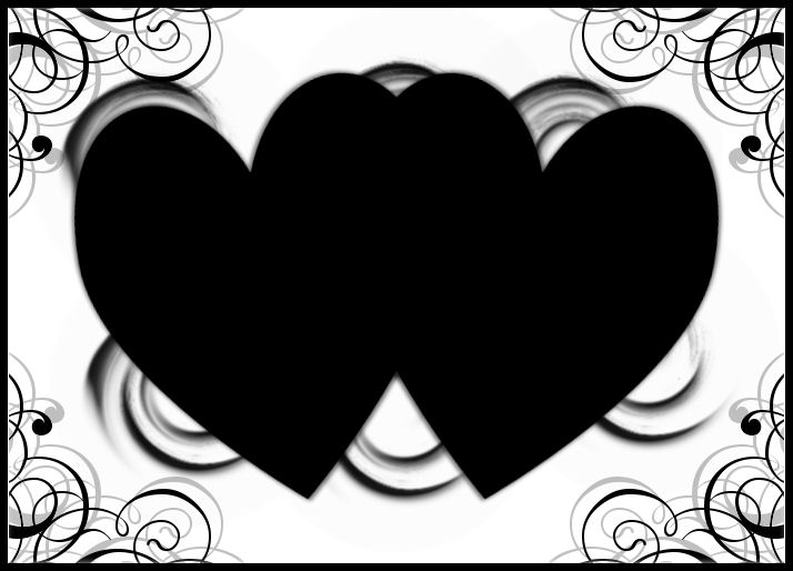一些好看的黑白相框·· - 玫瑰夫人 -