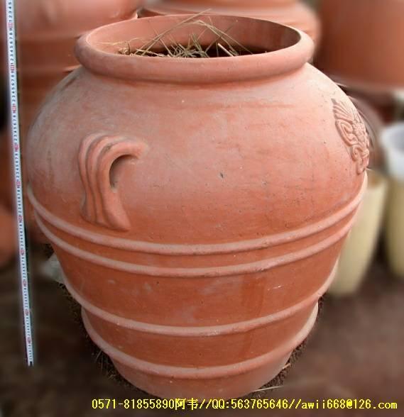 景观园林陶罐/陶土罐花钵实景效果
