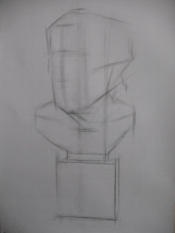 素描石膏像写生步骤------海盗