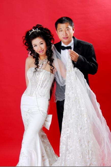白纱二——双人-新鲜出炉的小女子的 婚纱照 奉上喽