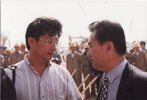 我和郑冰1996年创作的大连万达队歌 - 后皇嘉树 - 后皇嘉树