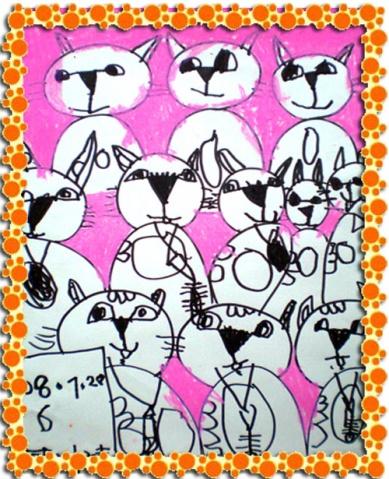 儿童初级班线描练习画《重复的小动物》(陈丹老师)