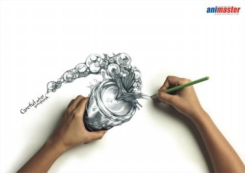 新视觉素描作品 - 綿 - 綿