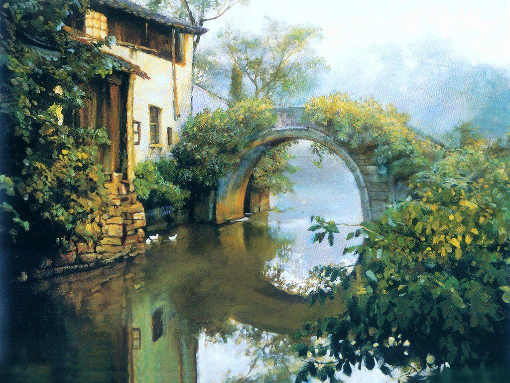 潘鸿海油画欣赏 潘鸿海 江南行 系列 高清图片