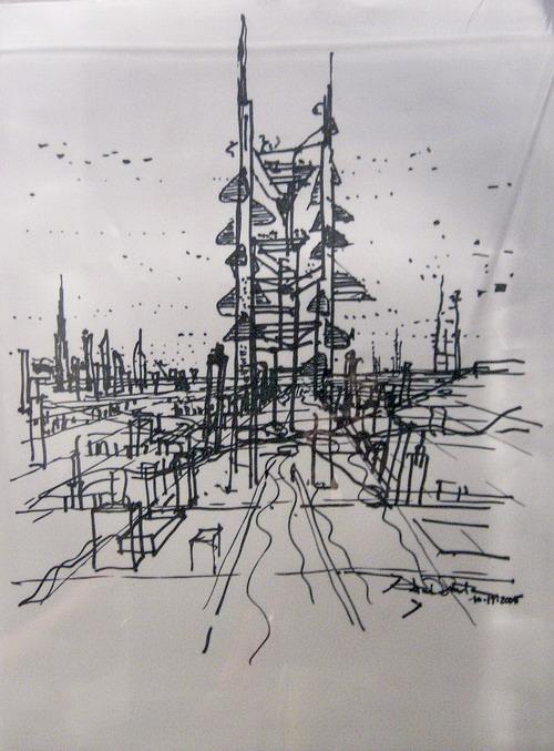 之世界著名建筑设计师的草图