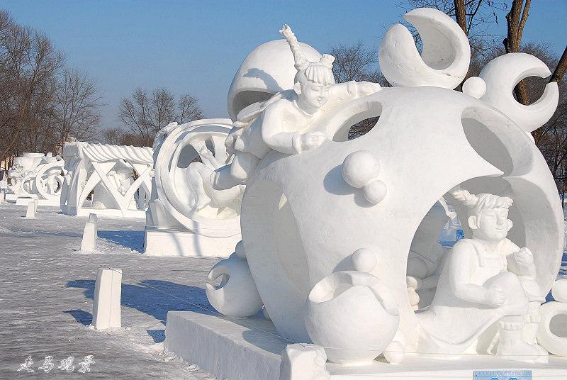 太阳岛雪雕 - 西樱 - 走马观景
