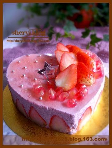 草莓慕斯蛋糕 - 出尘素影 - 淡极始知花更艳
