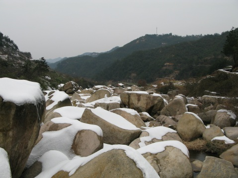 雪后万马渡 - 江村一老头 - 江村一老头的茅草屋