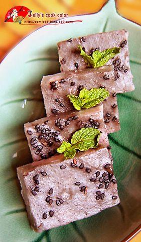 黑芝麻芋头糕 - fdycq - 费家村----老费的三角梅花园