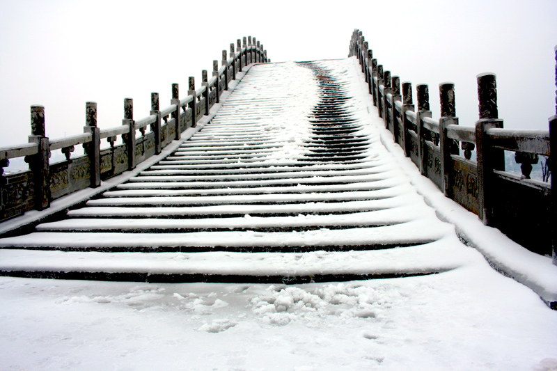 [原创]雪中桥——冰灾记忆之八 - 歪树 - 歪树