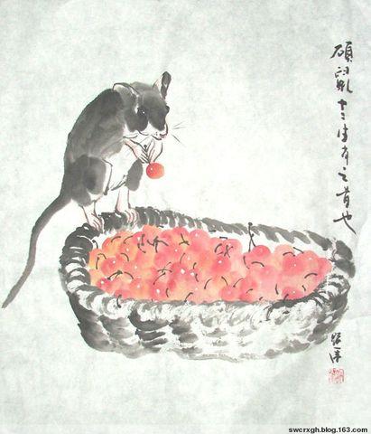 新春试笔《硕鼠图》 - 许跟虎 - 许跟虎国画艺术