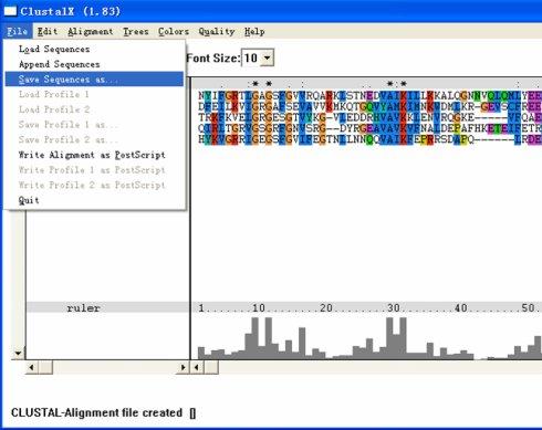 多序列比对与Clustal的使用(二)