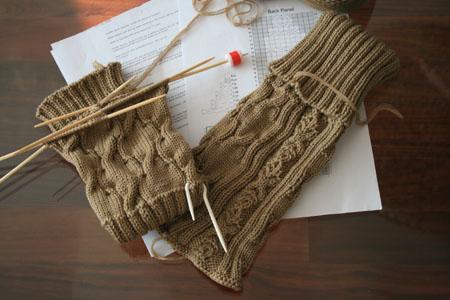 毛线护腿 legwarmer - lillian - 莉莲的手工
