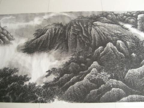 百米山水长卷 - 牧原易艺 - 中国牧原道学文化网  中国牧原书画艺术网