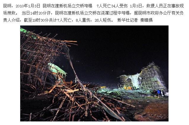 """昆明新机场建设""""加快进度"""" 三天后7死8重伤-张洪峰  - 张洪峰 - 张洪峰"""
