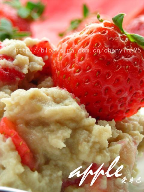 不容错过--一道既减肥又美容的冰淇淋:绿豆草莓冰淇淋 - 可可西里 - 可可西里