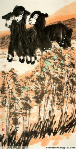 《老凤清声》——齐辛民画羊 - 小语 - 语画心池