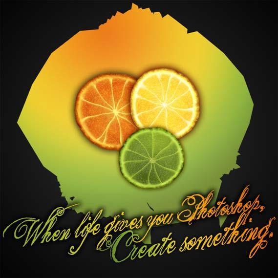 PS经典案例:手把手制作鲜美可口的橙子 - 美丽心情 - 美丽心情