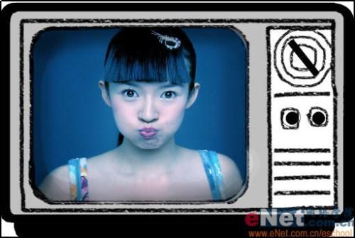 Ps给美女照片加上电视效果 - 迎春 -