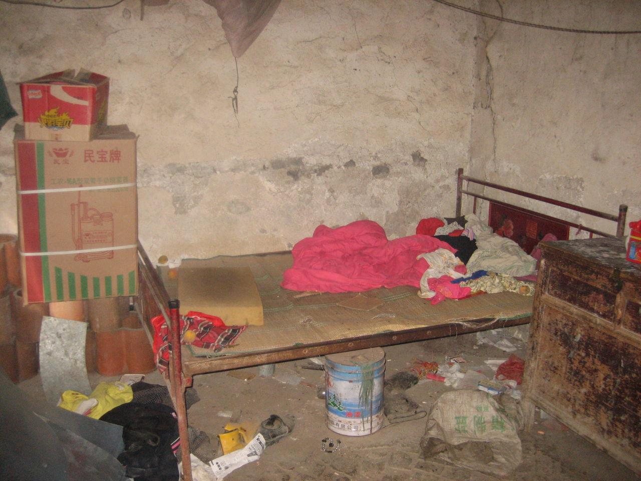 淮北农村的贫困家庭生活 高清图片