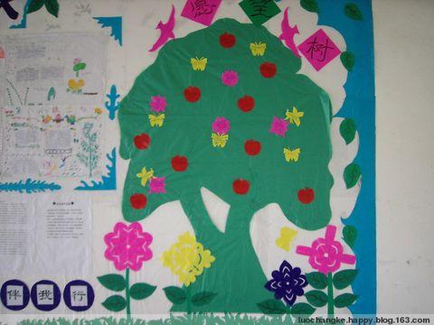 幼儿园学前班室内愿望树简笔画