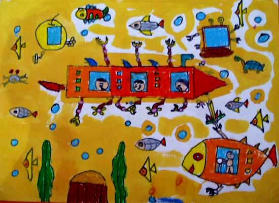 潜水 儿童画