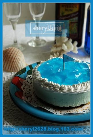 蓝色夏威夷芝士冻饼 - 出尘素影 - 淡极始知花更艳