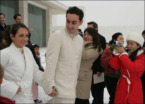 组图:去年冬天一对朋友的雪地婚礼 - 潘石屹 - 潘石屹的博客