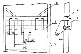 图1 自卸车油缸支架总成简图图片