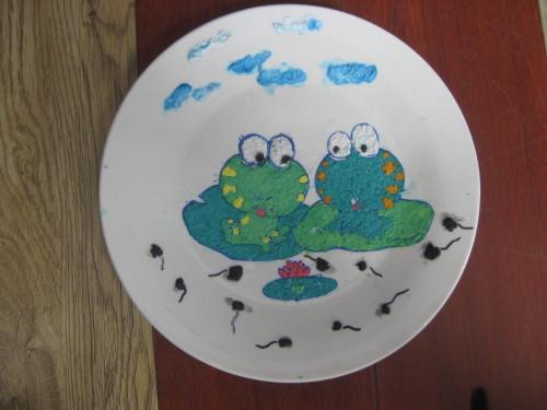 儿童手绘盘子图片