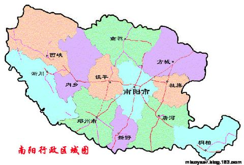 南阳市区地图