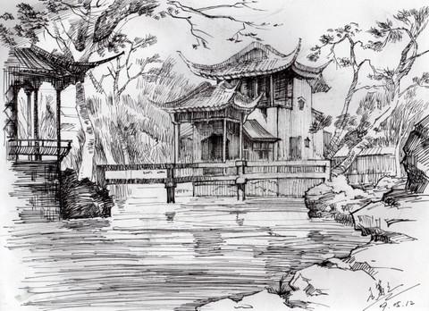临摹作品——拙政园香洲