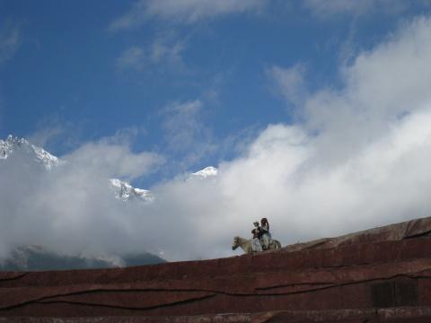 玉龙雪山一瞥 - lyldyx427 - 皋兰山居
