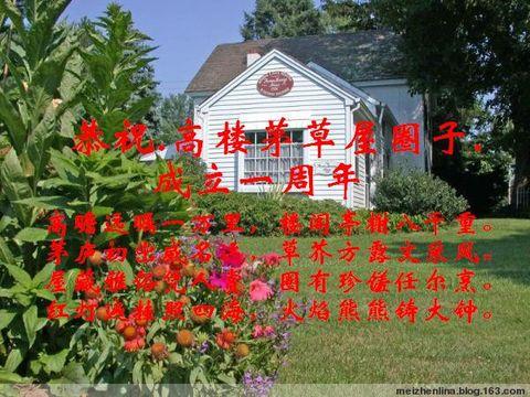 恭祝.高楼茅草屋圈子.成立一周年 - 野狂人 - 好人园——和谐的家园
