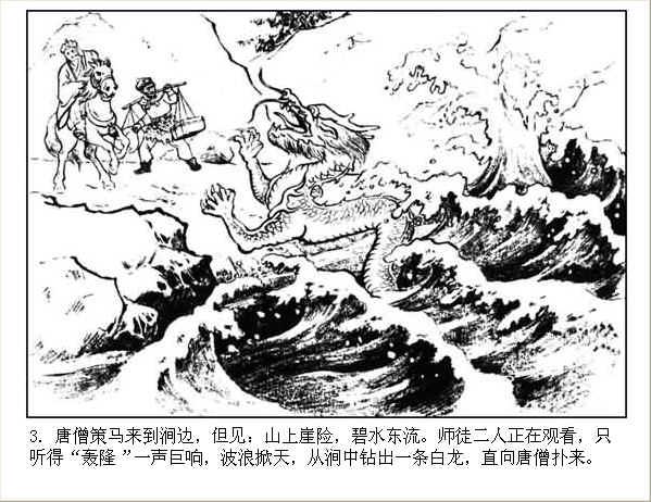 河北美版西游记连环画之七 【收白龙马】 - 丁午 - 漫话西游