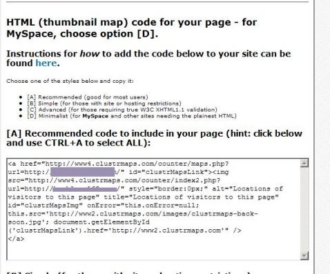 做你自己的博客地图--clustrmaps - petcon - petcon的博客
