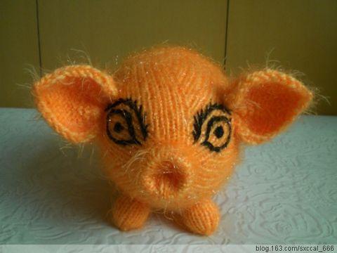 【原创】绒线编织——吉祥猪 - 清歌 - 在水一方