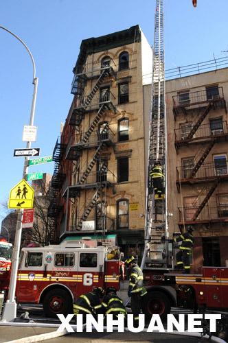 直击:纽约曼哈顿唐人街遭遇火灾(组图) - 潇彧 - 潇彧咖啡-幸福咖啡