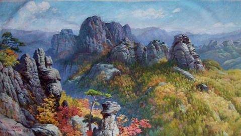 世界化时代的朝鲜美术作品图片