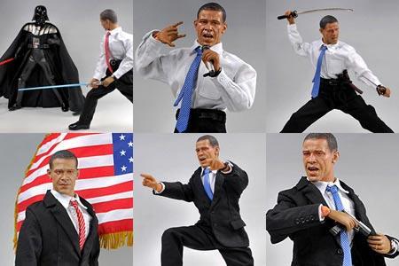 奥巴马武打玩具