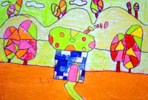 点时艺术工作室暑假儿童画班优秀作品选(二) - 点时画室 - 襄樊市点时视觉艺术培训学校