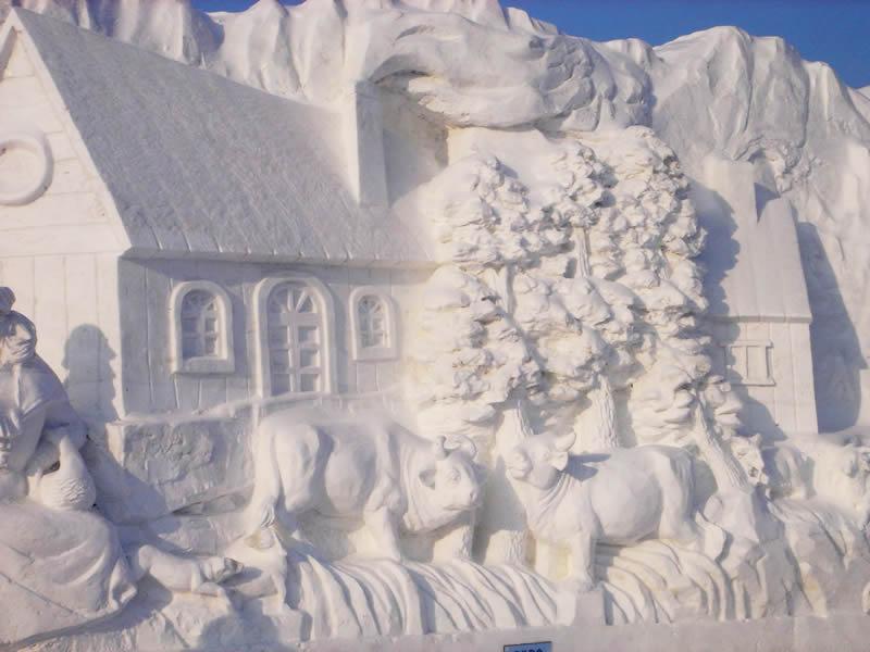 雪雕与冰雕【艺术美图】 - 舒芳诗林 - 舒芳诗林的博客