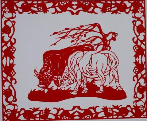 牛的剪纸 - wangzhen.19760613 - wangzhen.19760613的博客