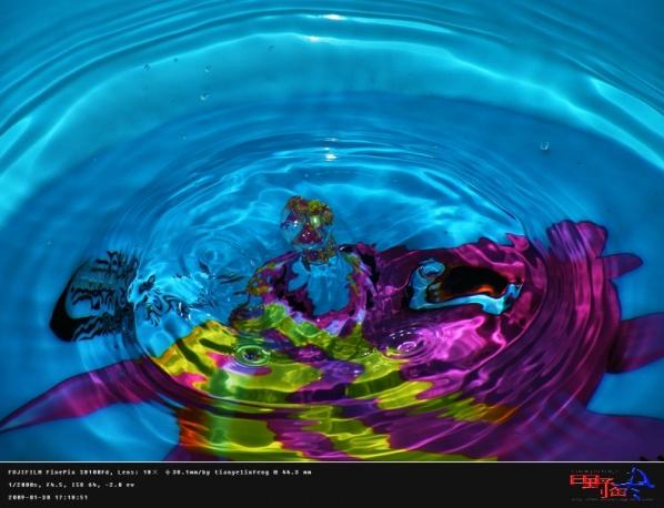 [原创]凝结美丽的瞬间--高速快门拍水滴 - 田野临风 - 田野临风的博客