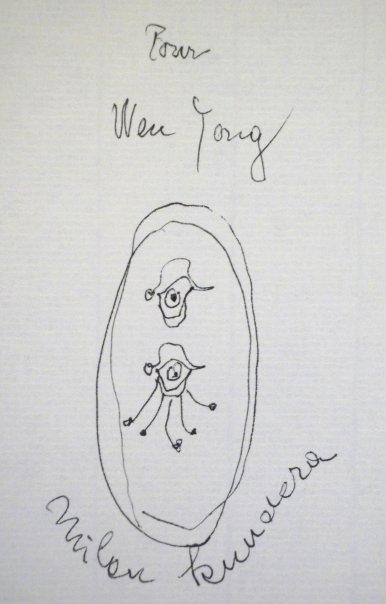 米兰昆德拉送给我的签名... - 侯文咏 - 侯文詠的博客