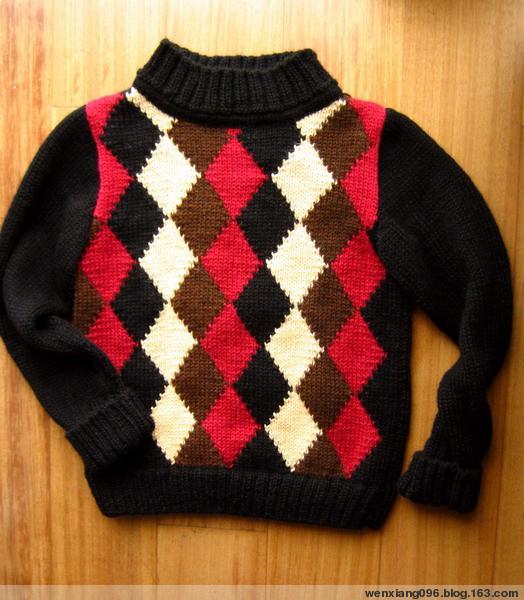 09年1月17日  苏格兰儿童毛衣(完工) - wenxiang096 - 闻香的博客