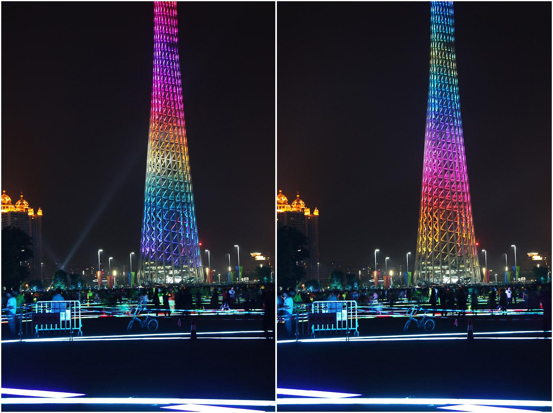广州路五光十色的广州塔