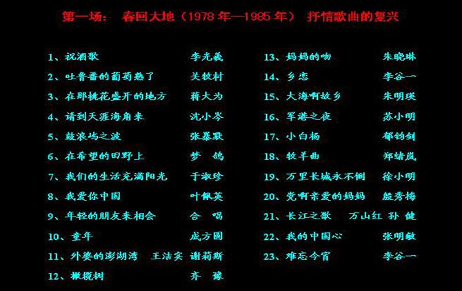 歌声飘过30年—百首金曲演唱会 - jax_pqihou - 棋行天下