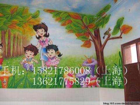 幼儿园环境布置--墙壁画主题